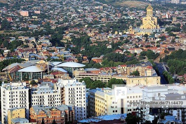 View of Tbilisi from Mtatsminda  Georgia