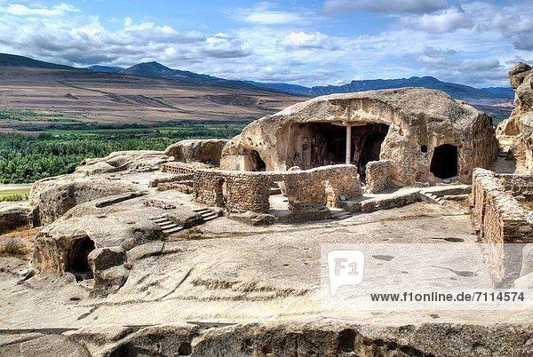 Hall of Tamar  Ancient cave town Uplistsikhe  Shida Kartli  Georgia