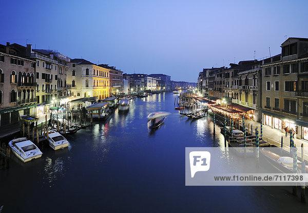 Europa Venedig Venetien Italien bei Nacht