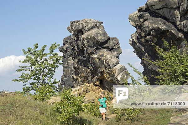 Teufelsmauer bei Weddersleben  Harz  Sachsen-Anhalt  Deutschland  Europa