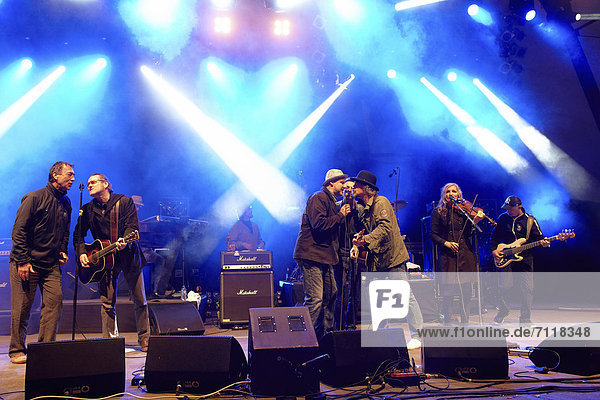Final concert of the BAP tour  Loreley open air stage  St. Goarshausen  Rhineland-Palatinate  Germany  Europe