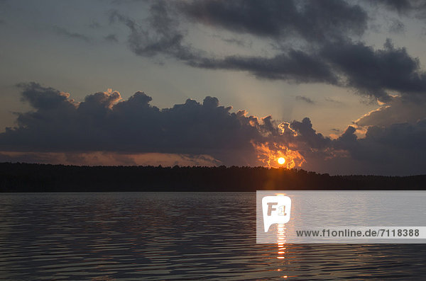 Sonnenuntergang am Tom Thomson Lake  Algonquin Provincial Park  Ontario  Kanada