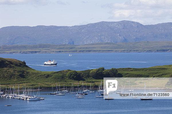 Hafen  Europa  Urlaub  Großbritannien  Küste  Reise  Meer  Argyll  Schottland  Tourismus