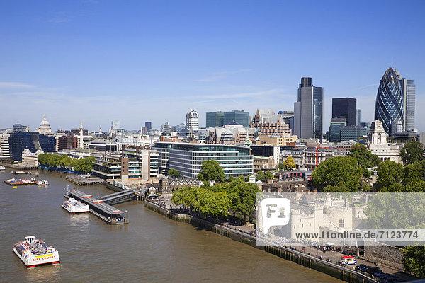 UK  United Kingdom  Europe  Great Britain  Britain  England  London  Tower Bridge  Thames River  River Thames  City  Skyline  London Skyline  Aerial  Aerial View
