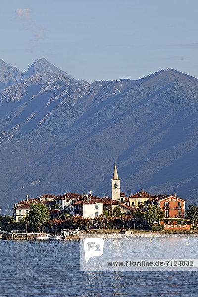 Europe  Italy  Piedmont  Piemonte  Lake Maggiore  Lago Maggiore  Stresa  Isola Superiore  Isola Pescatore  Alps  Tourism  Travel  Holiday  Vacation