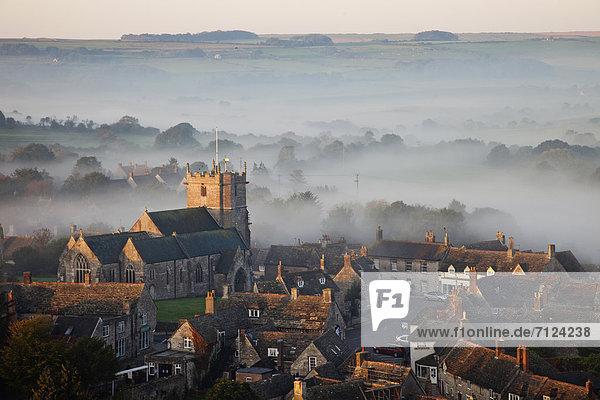 Europa  Urlaub  britisch  Großbritannien  Dunst  Reise  Nebel  ernst  Dorset  England  Tourismus