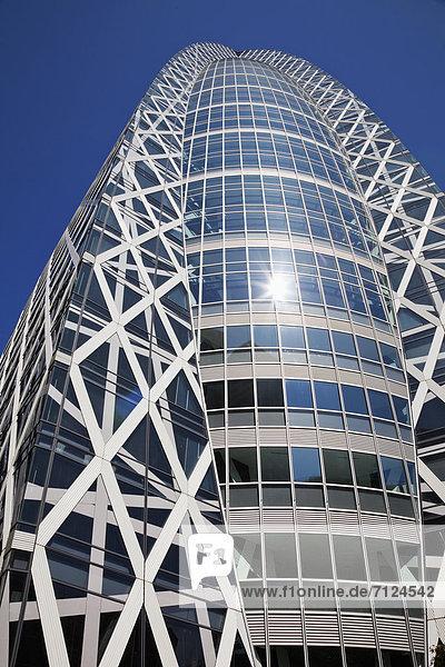 Bürogebäude  Glas  Hochhaus  Tokyo  Hauptstadt  Architektur  Büro  Aluminium  Asien  Japan  japanisch  modern  Shinjuku  Stahl