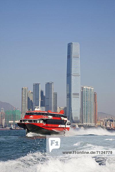 Finanzen  Handel  Architektur  Büro  Finanzmarkt  Geschäftsviertel  Bürogebäude  China  Asien  Hongkong  modern