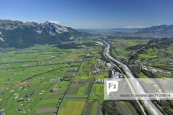 Golfplatz Europa Bundesstraße Liechtenstein Rheintal Schweiz