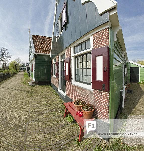 Europa Winter Wohnhaus Museum Niederlande Im Freien Zaanse Schans