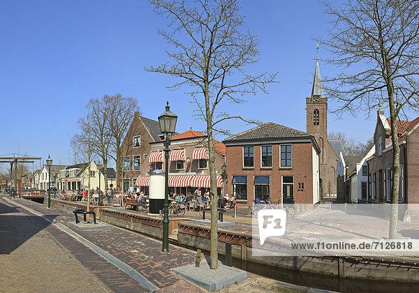 Netherlands  Holland  Europe  Kamerik  city  village  forest  wood  trees  spring  people  Village  centre