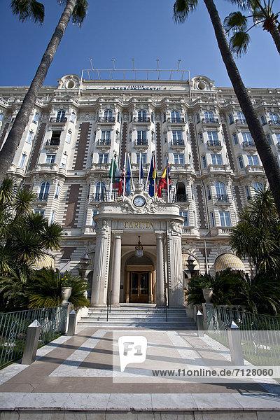 Baustelle  Frankreich  Europa  Gebäude  Hotel  Fassade  Cote d Azur  Cannes