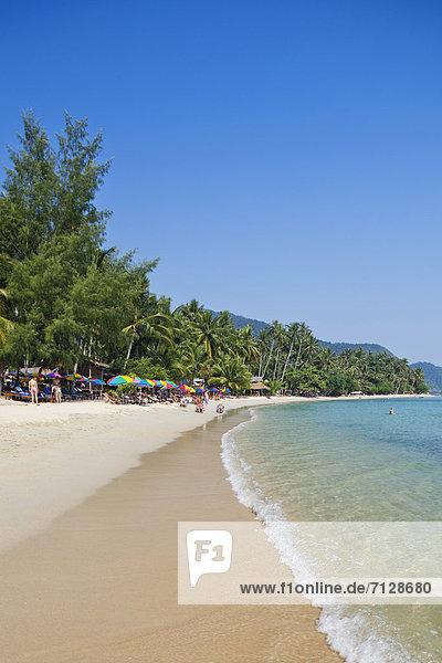 Palme  Urlaub  Strand  Reise  Meer  Sand  Insel  Asien  Palmenstrand  Paradies  Thailand  Tourismus
