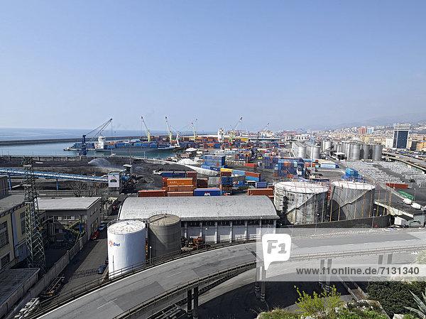 Hafen  Europa  Industrie  Genua  Container  Italien  Ligurien