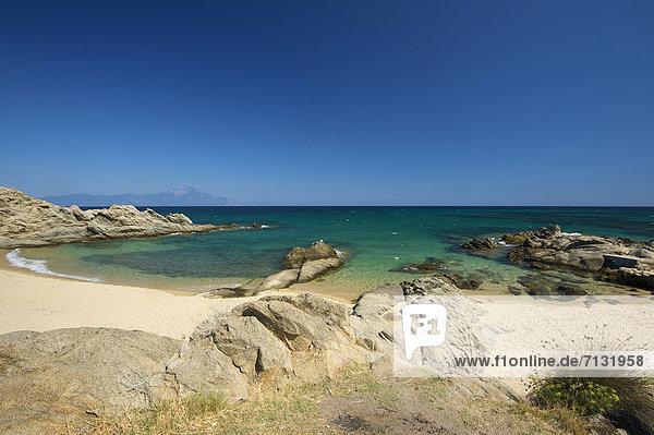 leer  Landschaftlich schön  landschaftlich reizvoll  Europa  Urlaub  Tag  europäisch  Strand  Küste  niemand  Reise  Meer  Natur  Sandstrand  Griechenland