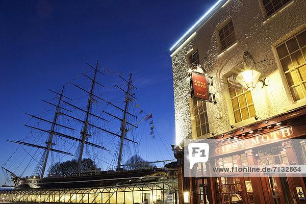 Europa  britisch  Großbritannien  London  Hauptstadt  Boot  Schiff  UNESCO-Welterbe  Cutty Sark  England  Greenwich