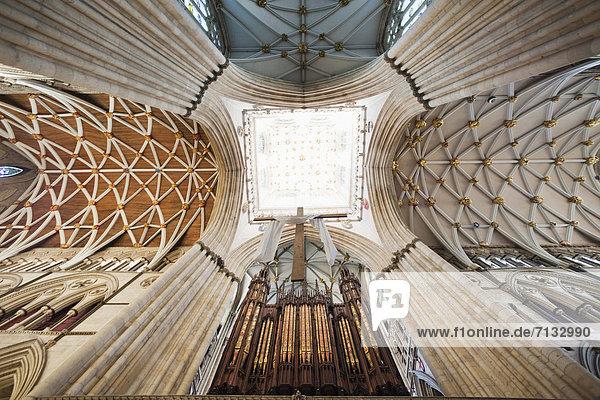 Europa  britisch  Großbritannien  Innenaufnahme  Yorkshire and the Humber  England  Klosterkirche