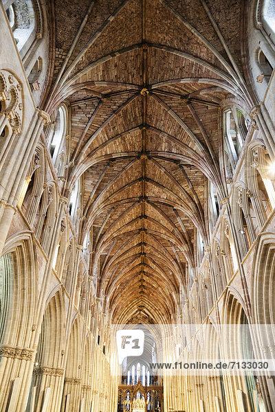 Europa  britisch  Großbritannien  Innenaufnahme  Kathedrale  England  Worcester  Worcestershire