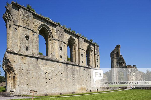 Europa  britisch  Großbritannien  Abtei  England  Somerset