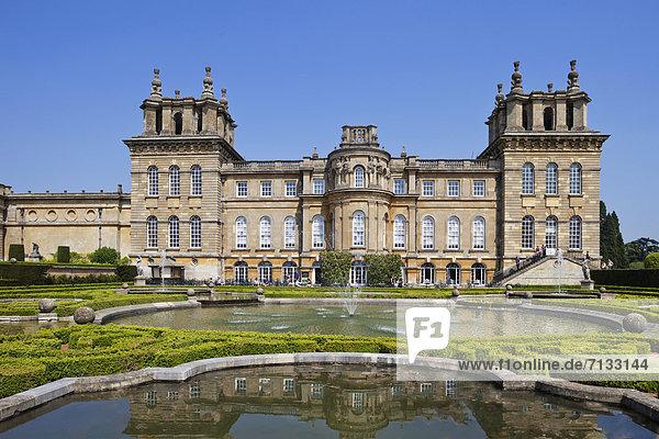 Europa  britisch  Großbritannien  Palast  Schloß  Schlösser  England  Oxfordshire