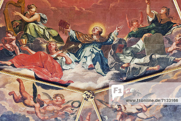 Europa  britisch  Großbritannien  Innenaufnahme  England  Freske  Oxford  Oxford University  Oxfordshire
