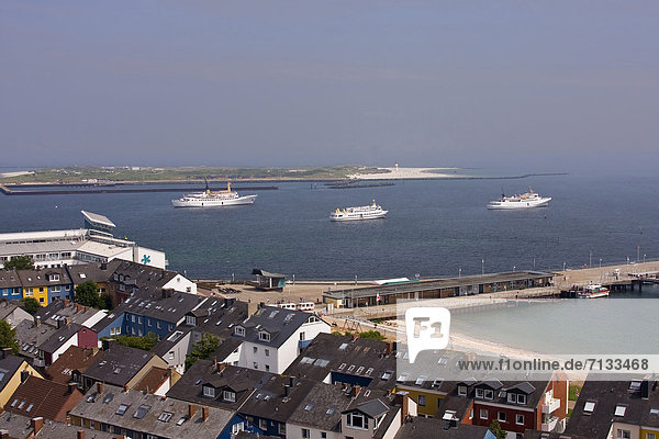 Holiday ships  Germany  dune  harbour  port  house  home  Helgoland  ocean  houses  homes  island  isle  cruise ships  scenery  sceneries  scenery  sea  nature  panorama  horizontal format  ships  Schleswig-Holstein  settlement  summer  tourism