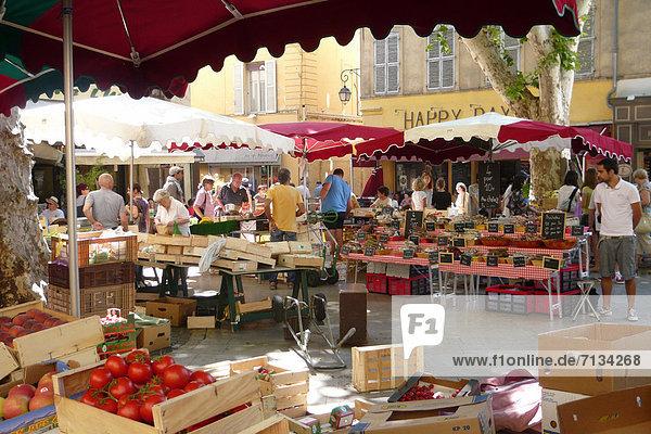 Marktstand  Frankreich  Europa  Frucht  Gemüse  Stadt  Großstadt  Aix-en-Provence  Markt