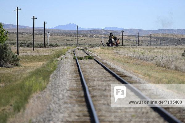 America  USA  United States  Utah  Engine 119  locomotive  steam  Golden Spoke  National Monument  railroad  Union Pacific  tracks