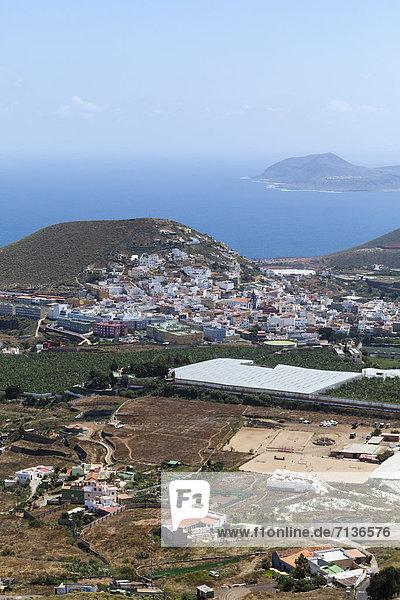 Europa Bauernhof Hof Höfe Kanaren Kanarische Inseln Gran Canaria Spanien