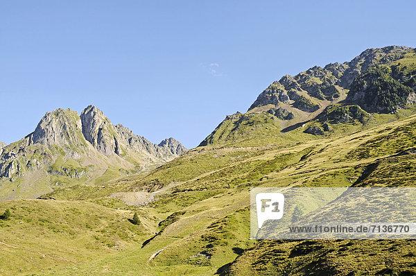 Col du Tourmalet  Gebirge  Bareges  Midi Pyrenees  Pyrenäen  Departement Hautes-Pyrenees  Frankreich  Europa  ÖffentlicherGrund