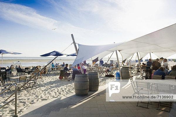 Strandbar  Wyk  Föhr  Nordfriesland  Schleswig-Holstein  Deutschland  Europa