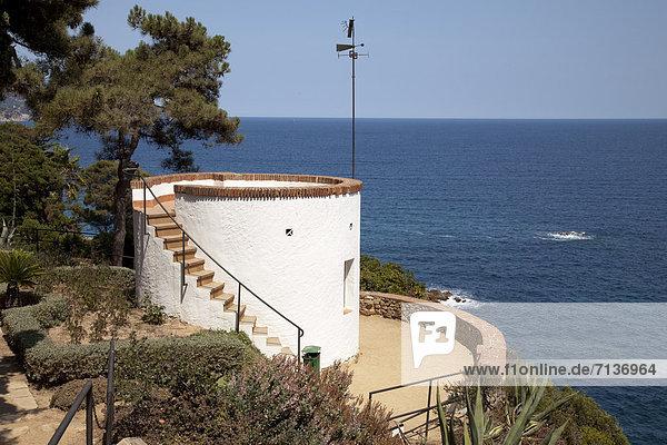 Europa Ansicht zeigen Blanes Katalonien Costa Brava Aussichtspunkt Spanien