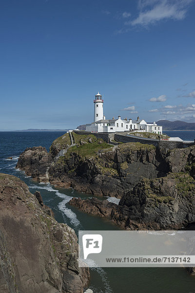 Fanad Head lighthouse,  Fanad Peninsula,  County Donegal,  Republic of Ireland,  Europe