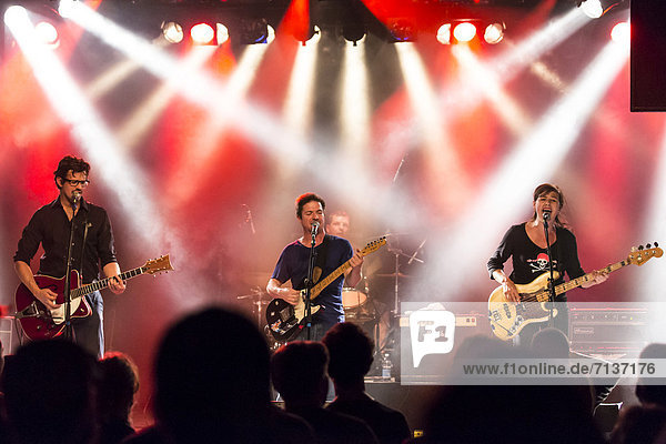 The Swiss band Baby Jail playing live at the Schueuer  Luzern  Switzerland  Europe