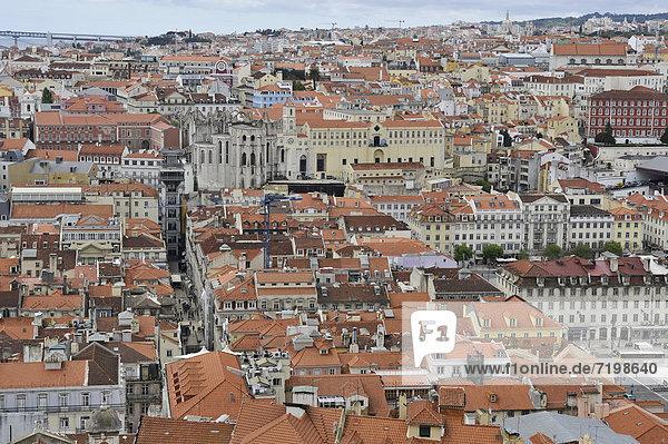 Lissabon Hauptstadt Europa Großstadt Festung Ansicht Portugal