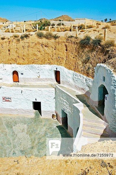 Sidi Driss Hotel,  Matmata,  Berber troglodyte settlement Tunisia., Sidi Driss Hotel,  Matmata,  Berber troglodyte settlement Tunisia.