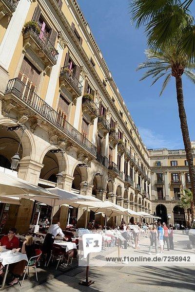 Plaza Real  Barcelona  Katalonien  Spanien
