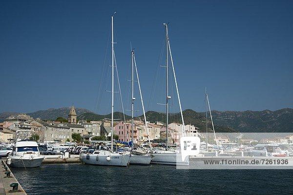 Hafen Motorjacht Frankreich Europa Korsika