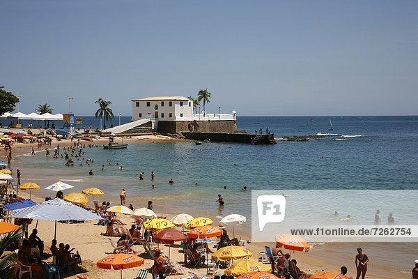Porto da Barra beach  Salvador  Bahia  Brazil  South America