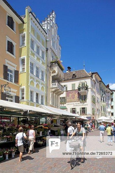 Marktstand Europa Trentino Südtirol Bozen Italien Trentino-Südtirol