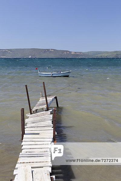Old jetty  Bogazkent Mah  Kepez  Canakkale  Marmara  Turkey  Asia