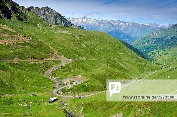 Col du Tourmalet Park National des Pyrenées Francia.