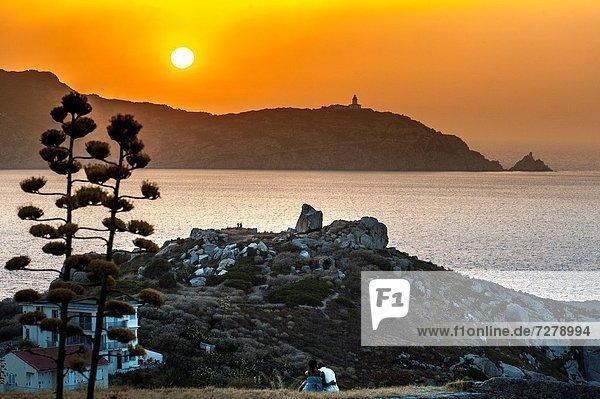 Frankreich  Sonnenuntergang