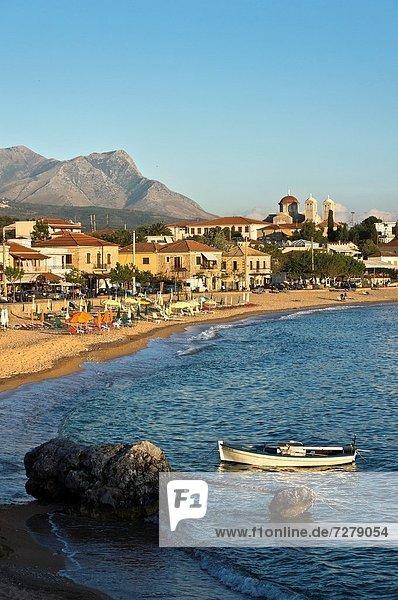Berg  Strand  Hintergrund  Ufer  Griechenland