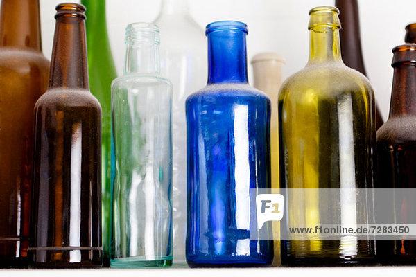 Bunte Glasflaschen