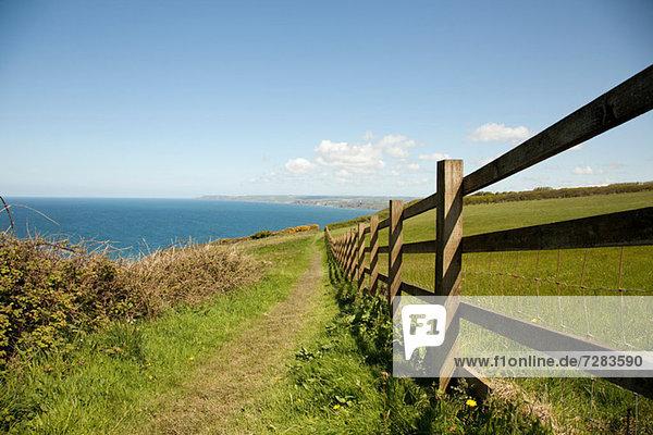 Küstenweg  Cornwall  England  Vereinigtes Königreich