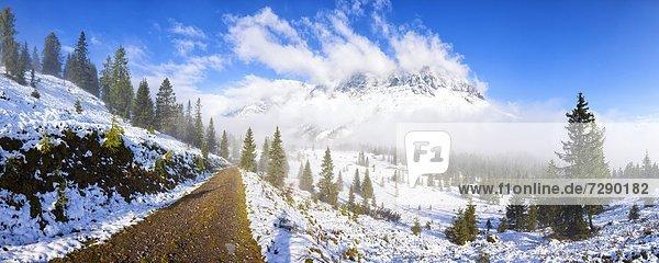 Weg zum Hochkeil zum Hochkönig  Berchtesgadener Alpen  Salzburger Land  Österreich