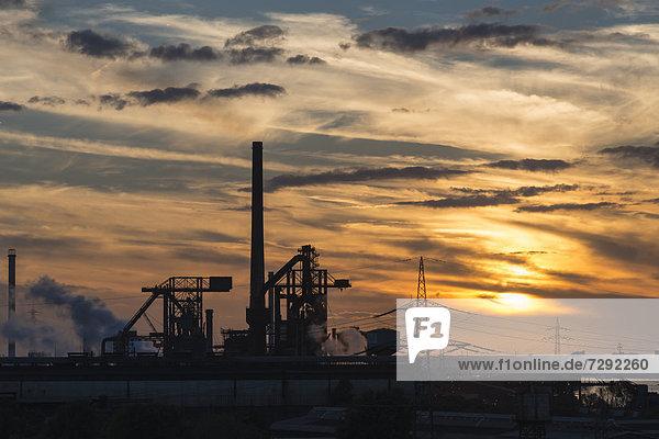 Germany  North Rhine Westphalia  Duisburg  View of smelting plant Germany, North Rhine Westphalia, Duisburg, View of smelting plant