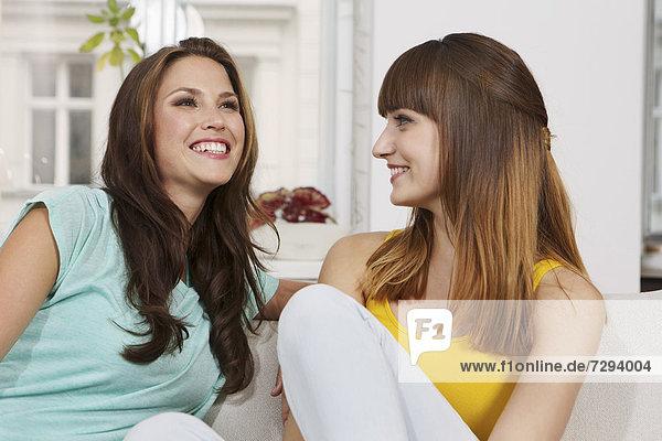 Young women having fun  smiling