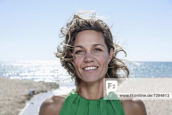 Spain  Mid adult woman smiling  portrait